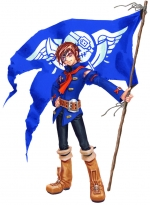 Artworks Skies of Arcadia Vyse