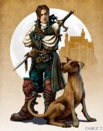 Artworks Fable II Hero and Dog Colour