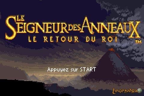 Le seigneur des anneaux le retour du roi game boy advance screenshots capture d 39 crans images - Le roi du matelas recrutement ...