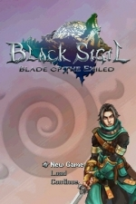 Screenshots Black Sigil: Blade of the Exiled L'écran-titre avec Kairu, le héros