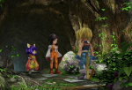 Screenshots Final Fantasy IX Remastered Dsiscussions de dames sur le seeuil du Temple de l'Eau