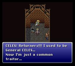 On sent bien que Celes est profondément marquée par sa déchéance au sein de l'Empire, auquel elle estime toujours appartenir.