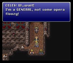 Celes n'est pas aussi enthousiaste que Locke, allez savoir pourquoi...