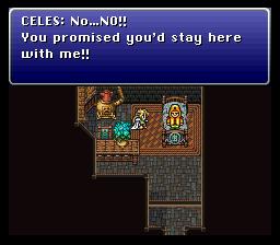 Celes n'a pas encore dépassé le stade, infantile, de rappeler ses