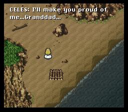 Celes a abandonné l'attentisme sur l'île. Elle est prête désormais à prendre des initiatives. Le besoin d'affection, lui, est toujours aussi important pour ce personnage considéré comme glacial..